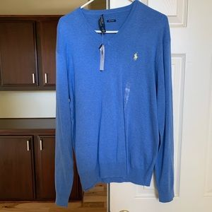 Blue Ralph Lauren V Neck Sweater